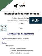 Aula 4B - Interações Medicamentosas e Relação Dose Efeito