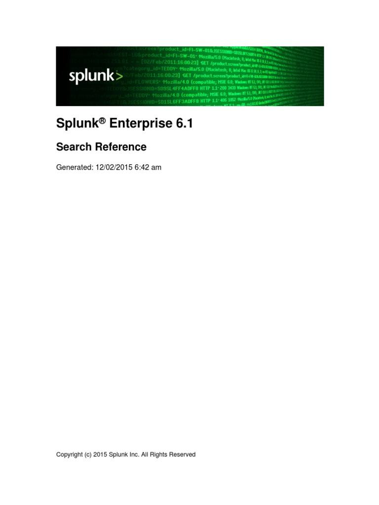 Splunk 6 1 SearchReference   Parameter (Computer Programming