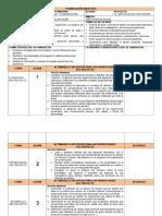 PLANIFICACIÓN DIDACTICA ESPAÑOL III PROYECTO 14