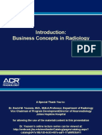 Introduction Business Concepts in Radiology