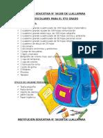utiles escolares 2017