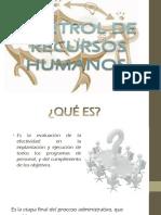 Control en Recursos Humanos