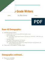 student writing survey analysis