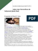 Los 20 Asesinatos Mas Horroroficos de Hollywood