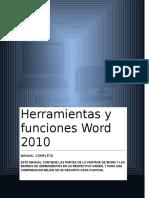 Herramientas y Funciones Word 2010