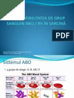 Incompatibilitatea de Grup ABO-Rh in Sarcina