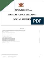 Social Studies Syllabus Primary School Trinidad