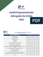 Edital AGU organizado