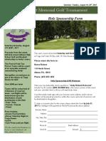 Andy Rickert Memorial Hole Sponsorship