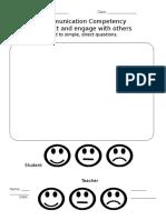 communication teacher and self assessment