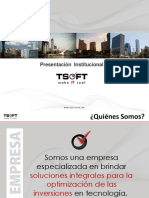 TSOFT_Presentacion Institucional 2017