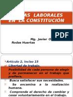 Normas Laborales en La Constitución