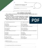 Evaluacion, Sustantivos, Signos, Ce,Ci,Que,Qui U I.
