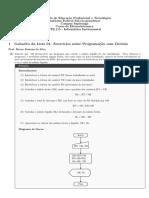 Gabarito Lista de Exercícios (retirados de MANZANO) de Algoritmos