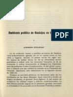 Ambiente Político Badajoz 1820-23