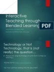 Interactive Teaching Through Blended Learning