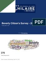 Citizens Survey 2017 - Results
