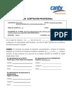 Formato de Acta de Entrega Provisional