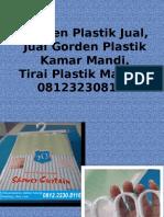 Gorden Plastik Jual,Jual Gorden Plastik Kamar Mandi,Tirai Plastik Malang, 081232308116