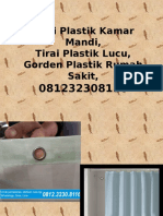 Tirai Plastik Kamar Mandi,Tirai Plastik Lucu,Gorden Plastik Rumah Sakit,081232308116