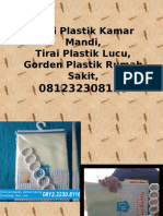 Tirai Plastik Kamar Mandi,Tirai Plastik Lucu,Gorden Plastik Rumah Sakit,0812323081116