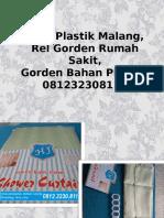 Tirai Plastik Malang,Rel Gorden Rumah Sakit,Gorden Bahan Plastik,081232308116