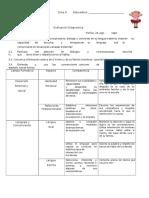 Evaluación Diagnostica 2do. B Yesica