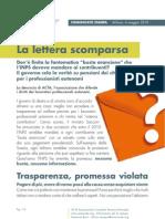 Comunicato Stampa ACTA sul caso Busta Arancione