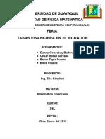 Trabajo Investigativo Matematica Financiera