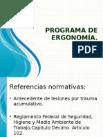 Programa de Ergonomía