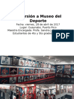 Excursión a Museo Del Deporte