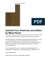 Canned Fruit Preserves and J