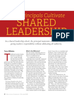 how principals cultivate shared leadership