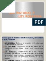 Ley Natural y Ley Positiva