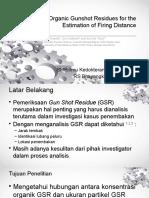 Detection of Organic Gunshot Residues for the Estimation