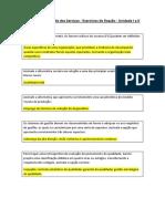 2013 - Exercícios de Fixação - Unidades I e II