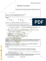 Cours Math - Chapitre 12 Généralités Sur Les Fonctions - 2ème Sciences Mr Hamada