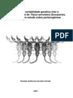 Estudo da variabilidade genética inter e intrapopulacional de Tityus serrulatus (Scorpiones, Buthidae)