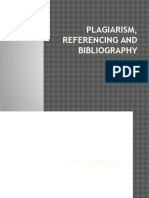 Plagiarism, Reference and Bibliography