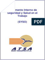 Reglamento Interno de Seguridad y Salud en El Trabajo - Rev1