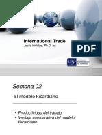 Sesion 2 - El Modelo Ricardiano