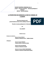 "1) ""La Protection des Mineurs au sein du Conseil de l'Europe"" (""The Protection of Children within the Council of Europe""), My First PhD Thesis Defended at Pantheon-Sorbonne University in December 2005"