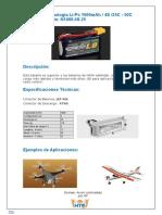 Batería de Tecnología Li-Po 1000mAh / 4S /25C - 50C