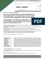 03.07.15. (Parte 1) Tuberculosis en La Gestante y El Recién Nacido (Guía SEIP). Epidemiología y Diagnóstico. AP(B) 2015
