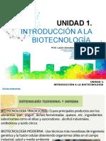 Unidad 1 - Introducción a La Biotecnología (Ucbi)