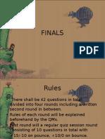 Science Quiz Finals