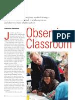 observing classroom practice