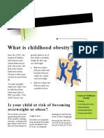 childhood obesity newsletter