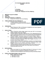 Rayne May Council Meetings Agenda and Supporting Information