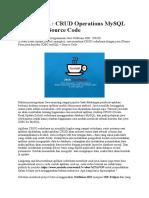 Belajar Java CRUD
